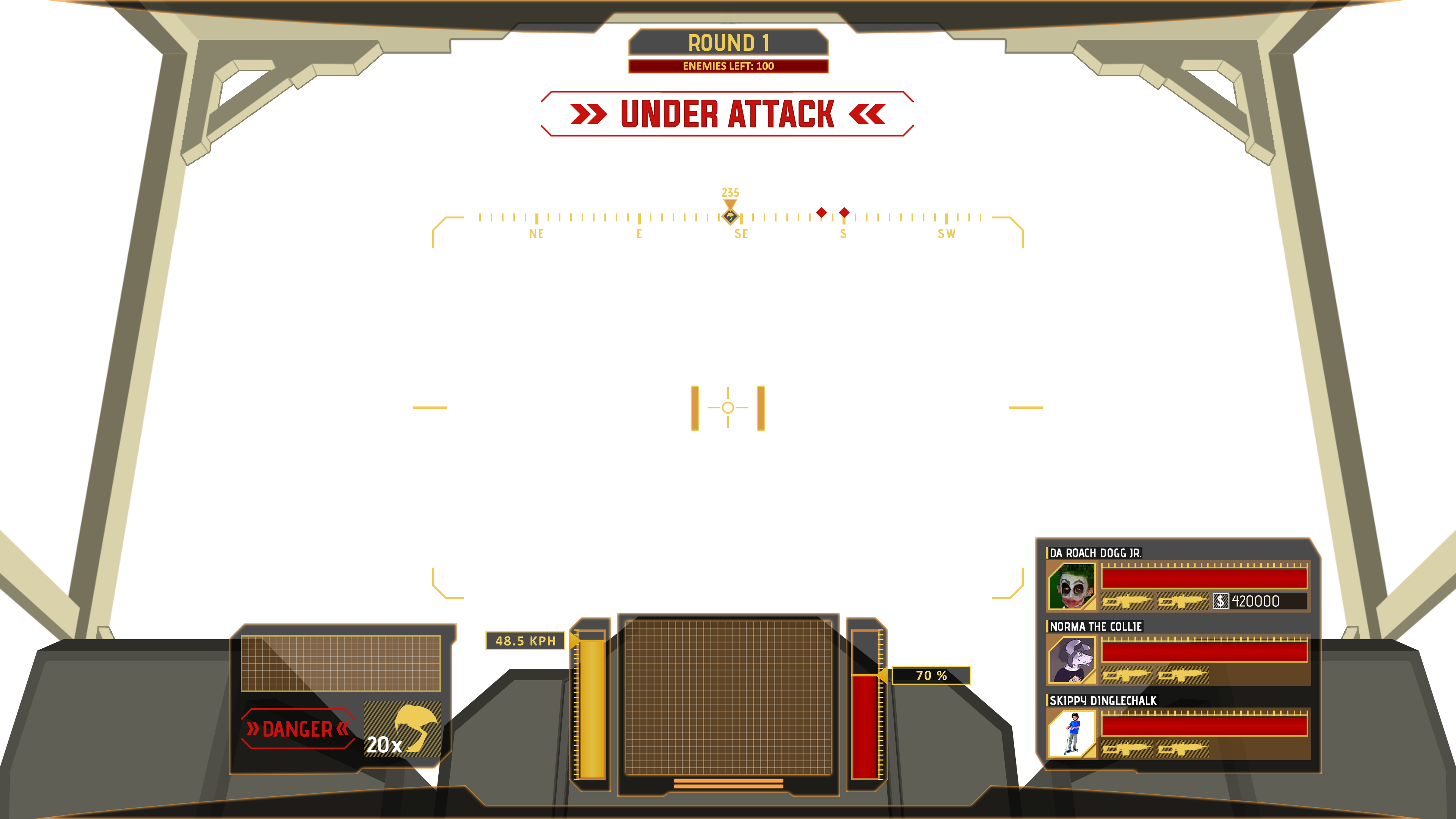 Player HUD - High-Fidelity Concept Wireframe
